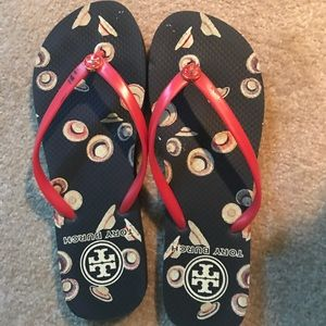 Tory Burch Hat Design Flip-Flops—like new!